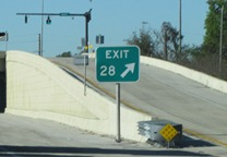 Concrete Needed for the Sides of an Exit Ramp